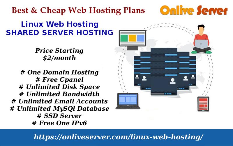 Linux based shared web Hosting plans onlive server
