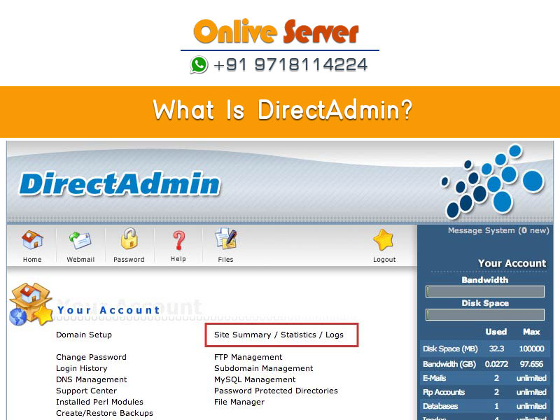 Direct Admin Server Management | Direct Admin Server Support