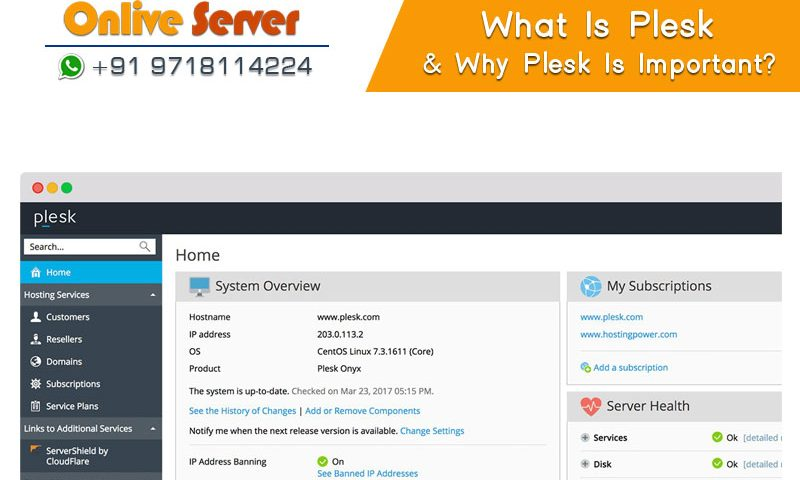 What is Plesk onlive server