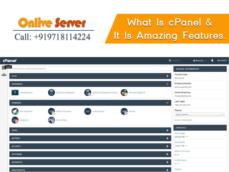 What is CPanel Onlive Server