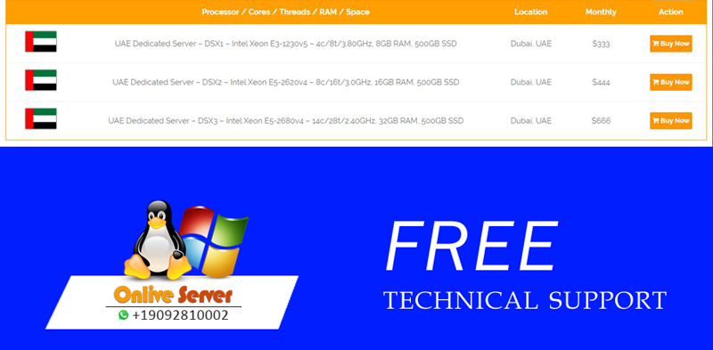Best Dubai Dedicated Server With Cheapest Prices - Onlive Server